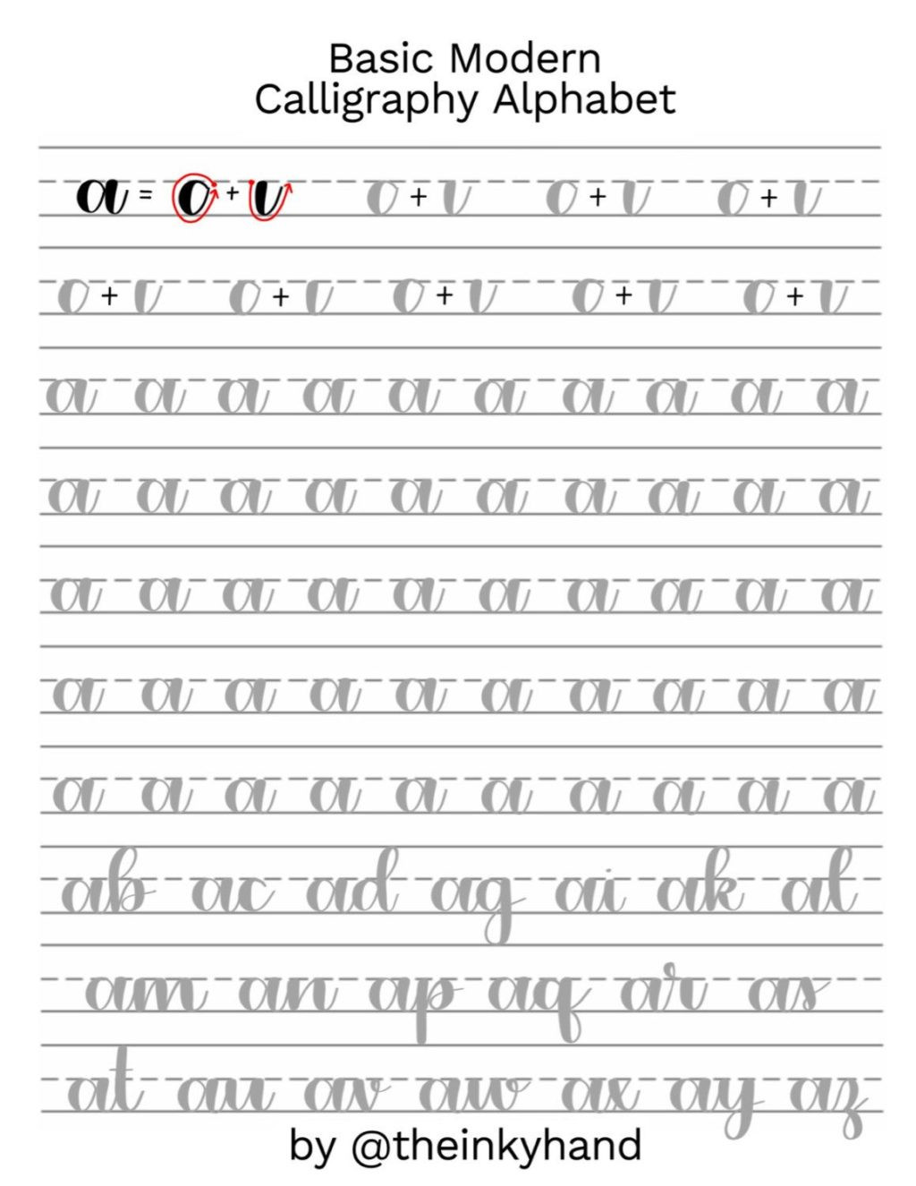 Free Calligraphy Worksheets Printable Worksheet Excelent Alphabet Practise Sheets Worksheet