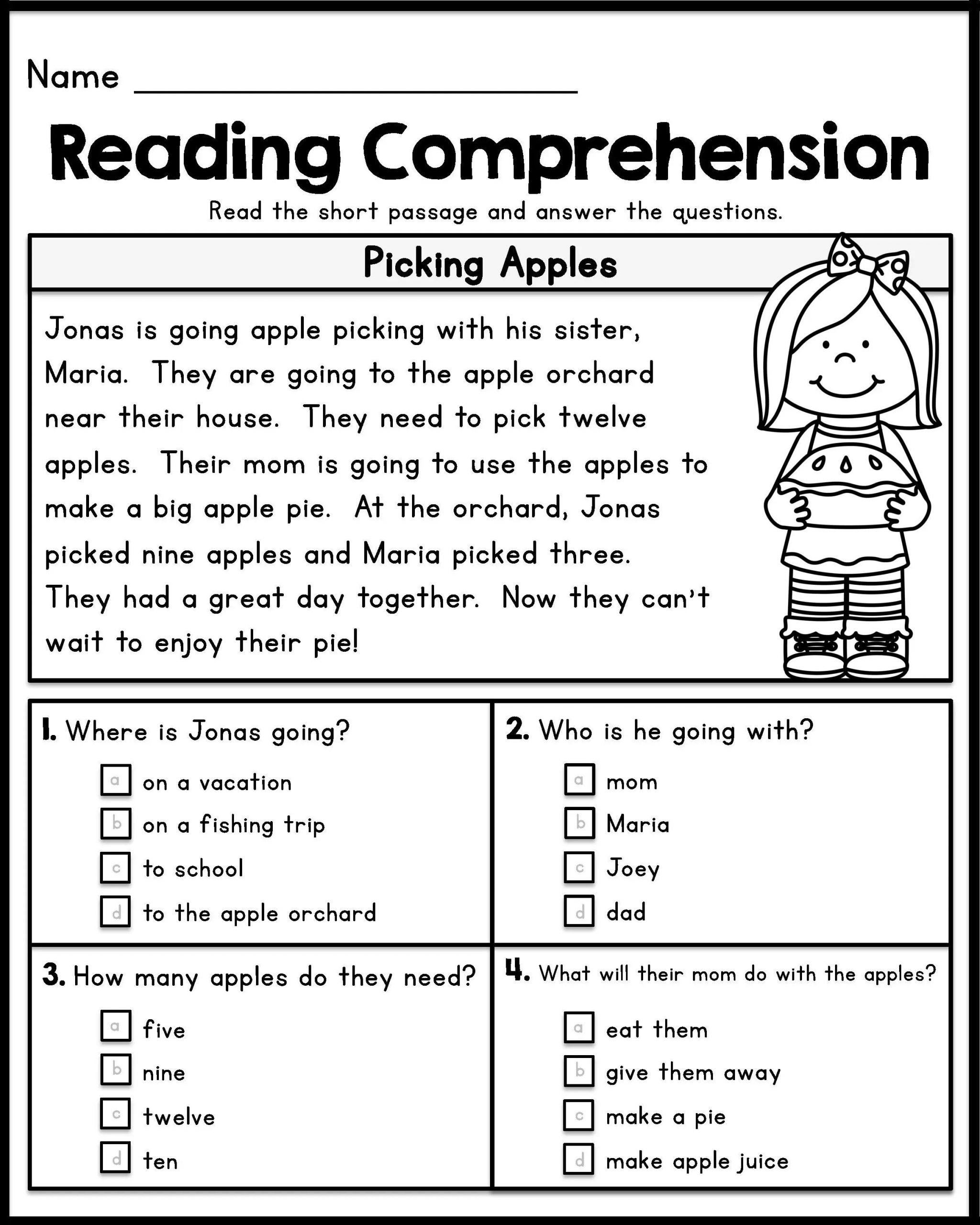 Free First Grade Reading Worksheets 12 Good Examples 1st Grade Worksheets Free Download