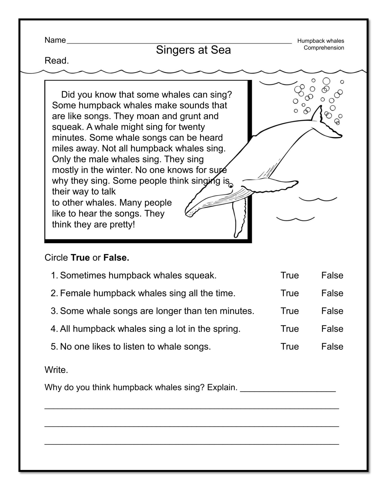 Free First Grade Reading Worksheets Good Examples 1st Grade Worksheets Free Download