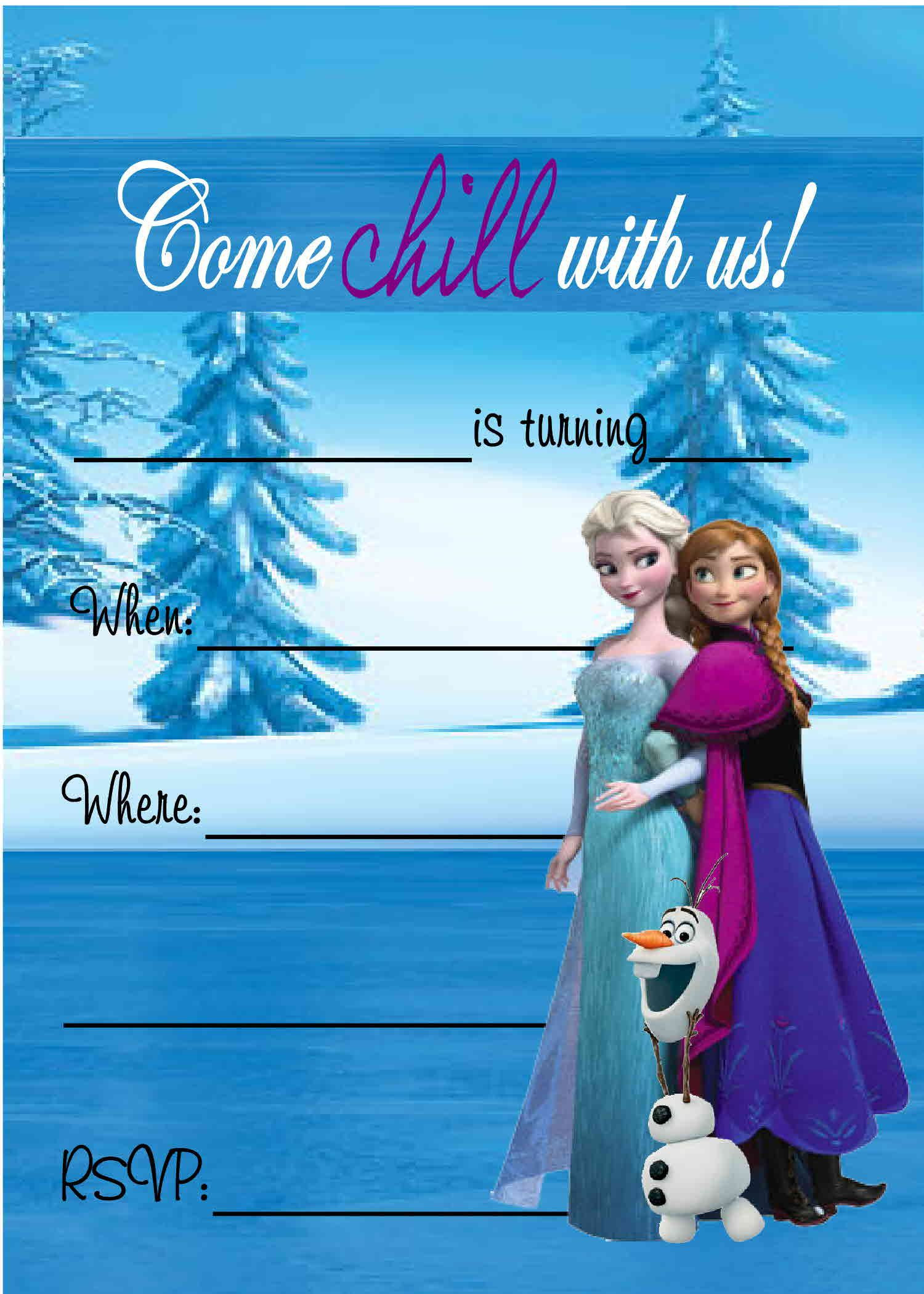 Free Frozen Invitations Printable Free Printable Birthday Invitations
