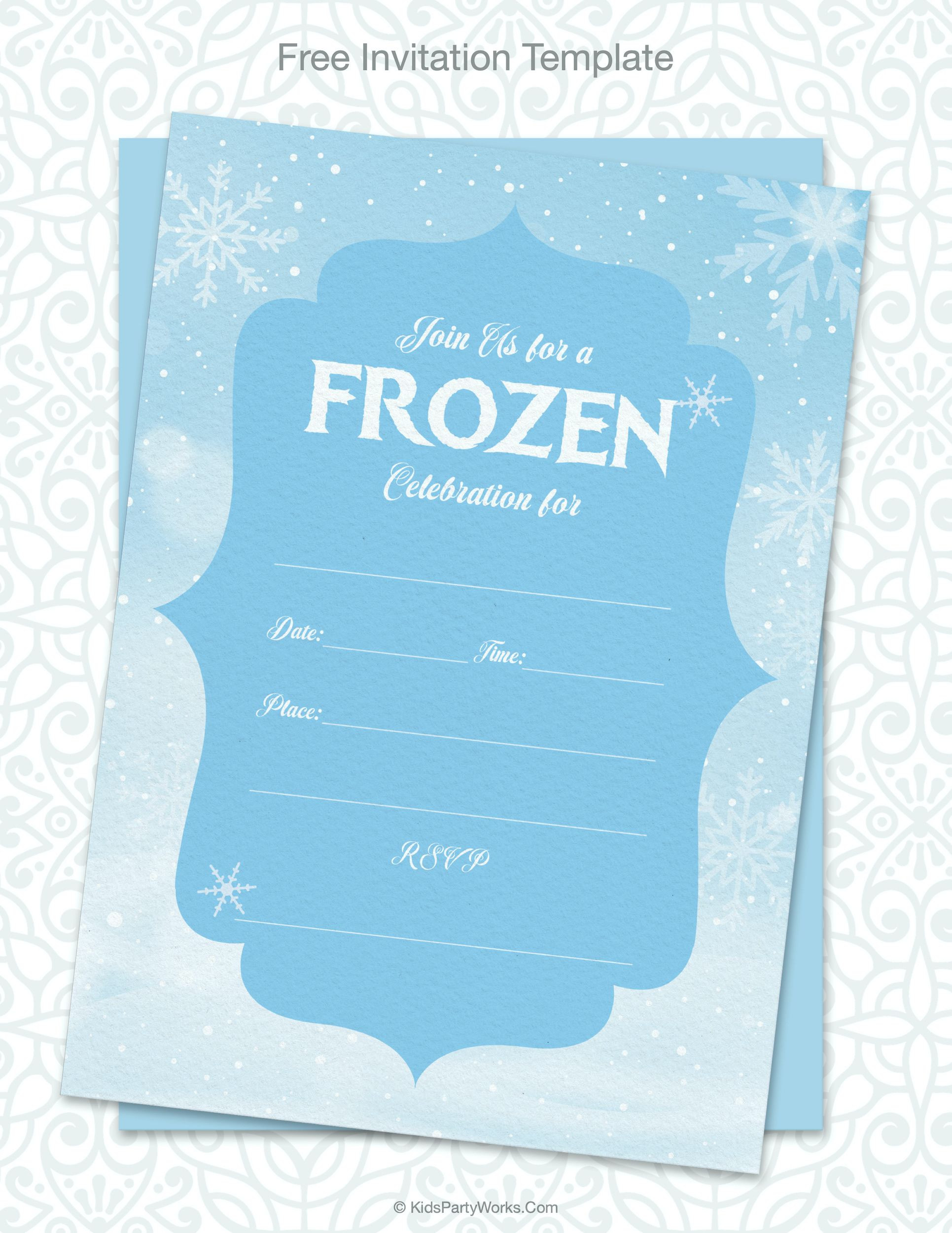 Free Frozen Invitations Printable Frozen Party In 2020