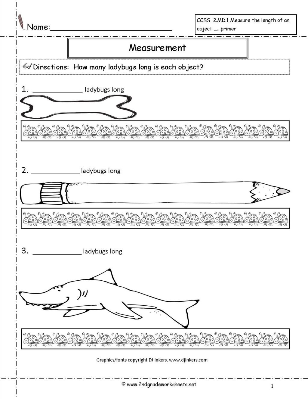 Free Measurement Worksheets Grade 1 Worksheet Ccss2md11a Second Gradeurement Worksheets and