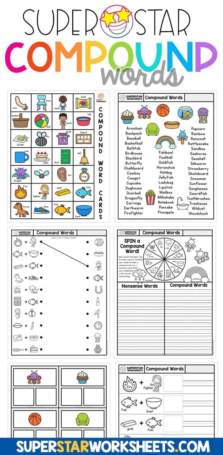 Free Printable Compound Word Worksheets Pin On Free Homeschool Printables and Worksheets