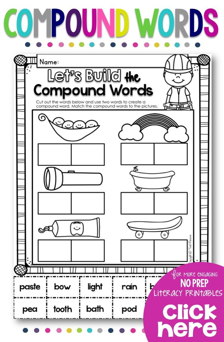 Free Printable Compound Word Worksheets Pound Words
