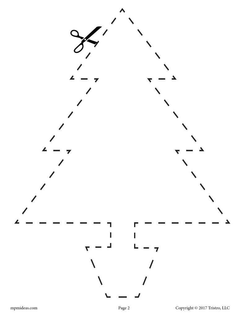 Free Printable Cutting Worksheets 10 Printable Christmas Shapes Cutting Worksheets