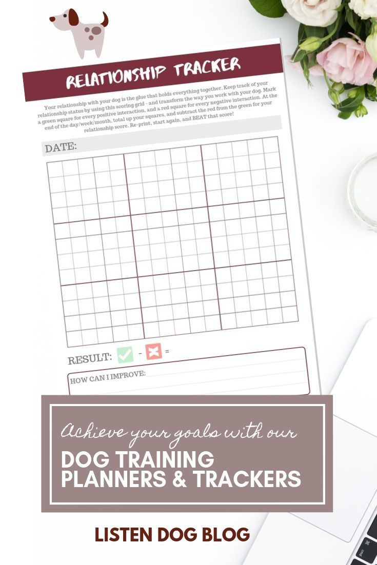Free Printable Dog Training Worksheets Printable Dog Training Planner Relationship Tracker