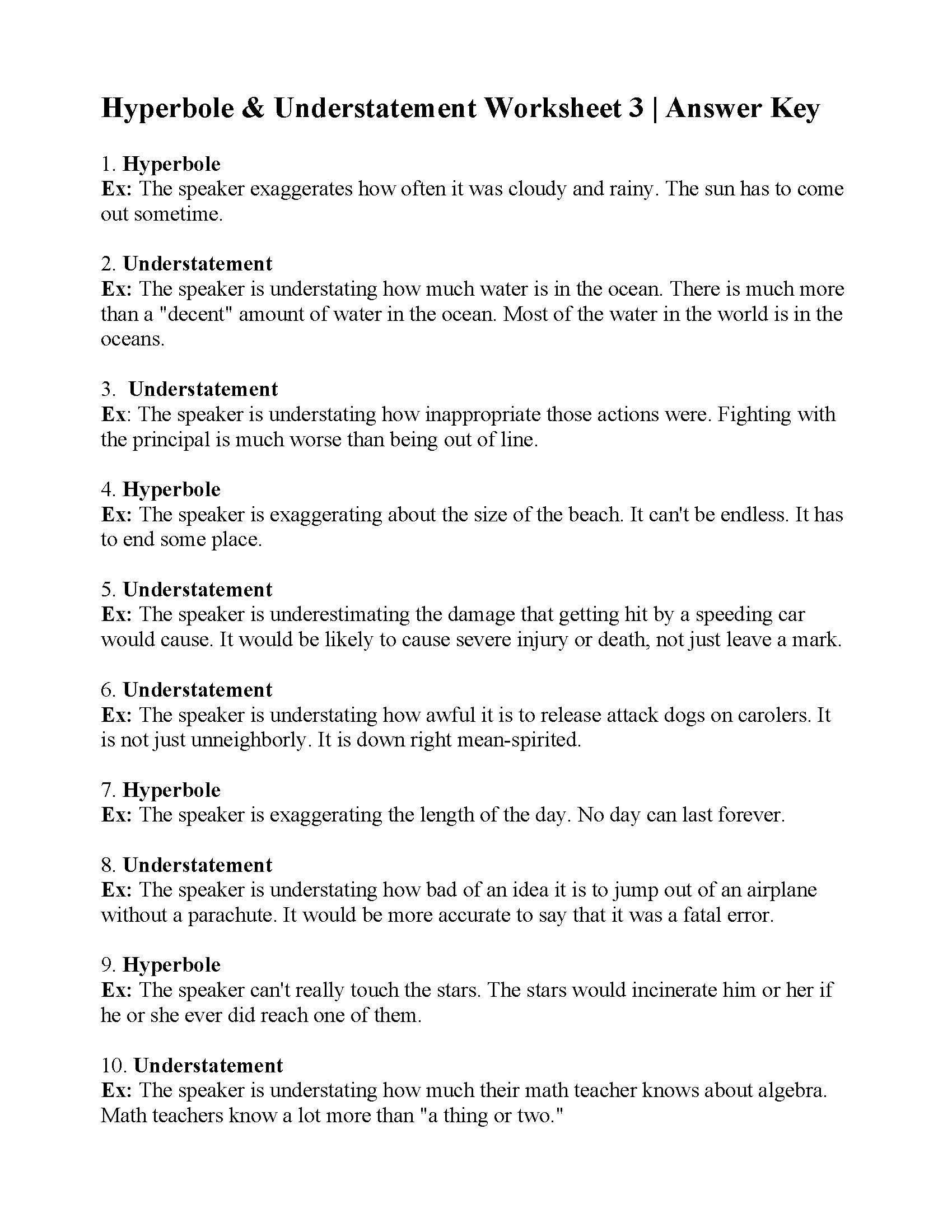 Free Printable Figurative Language Worksheets Free Printable Figurative Language Worksheets 30 Free