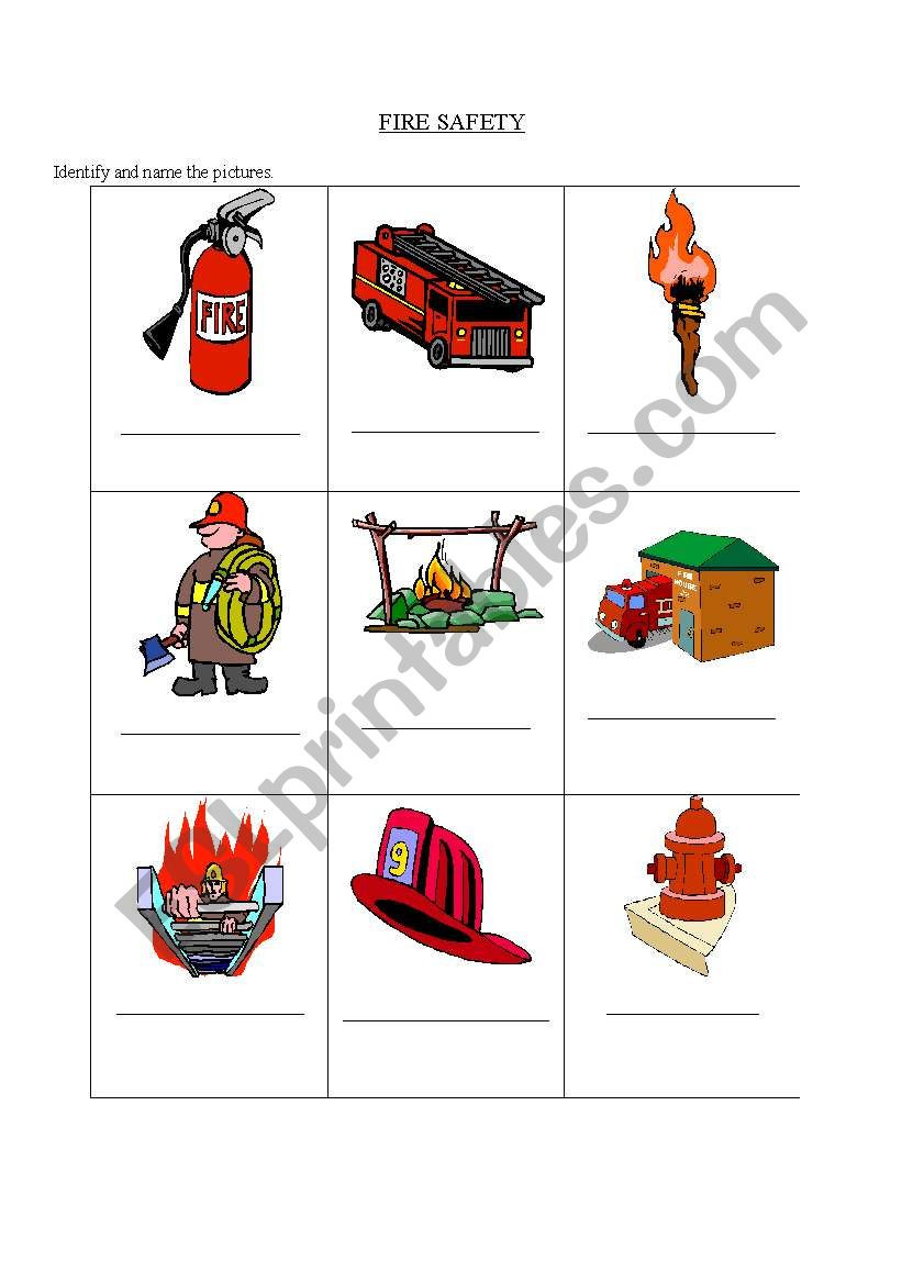 Free Printable Fire Safety Worksheets English Worksheets Fire Safety Estimate Math Problems Free