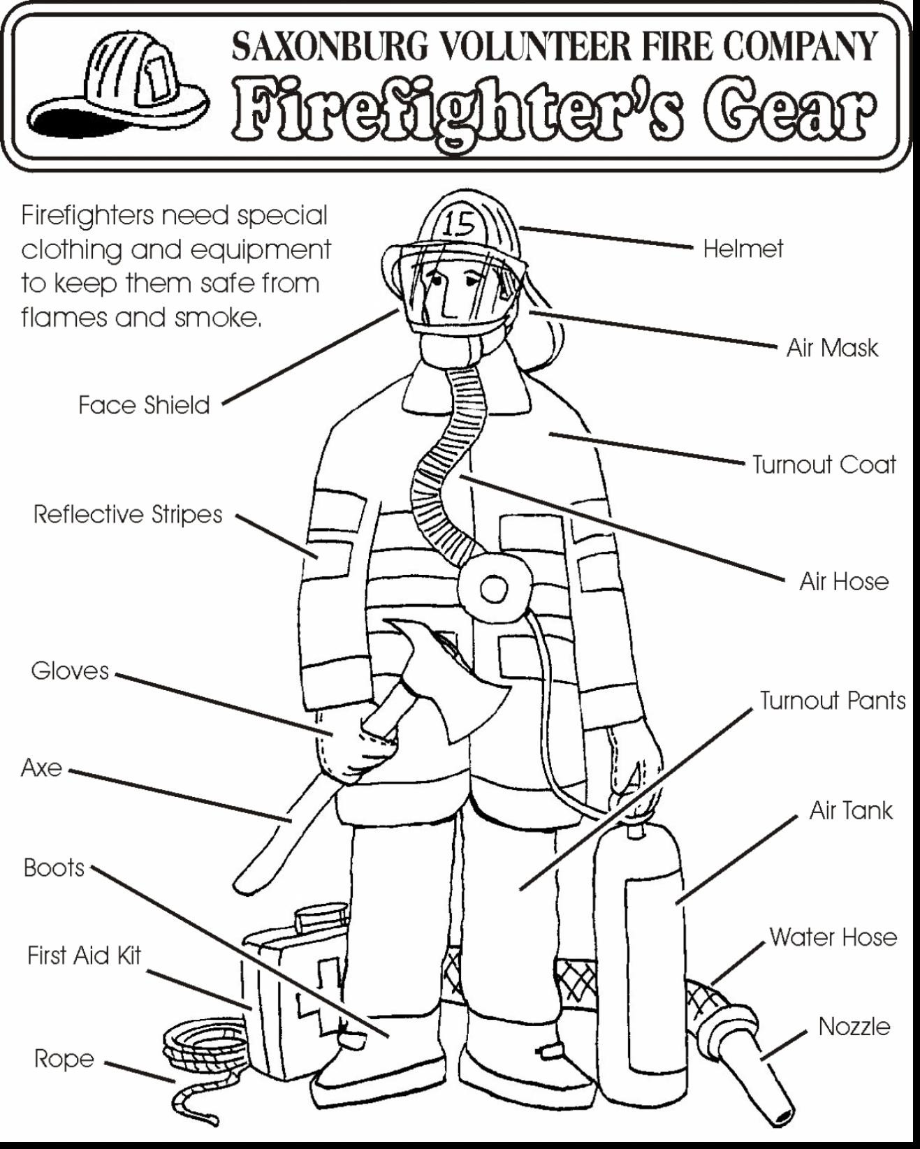 Free Printable Fire Safety Worksheets Fire Prevention Worksheets for Preschool
