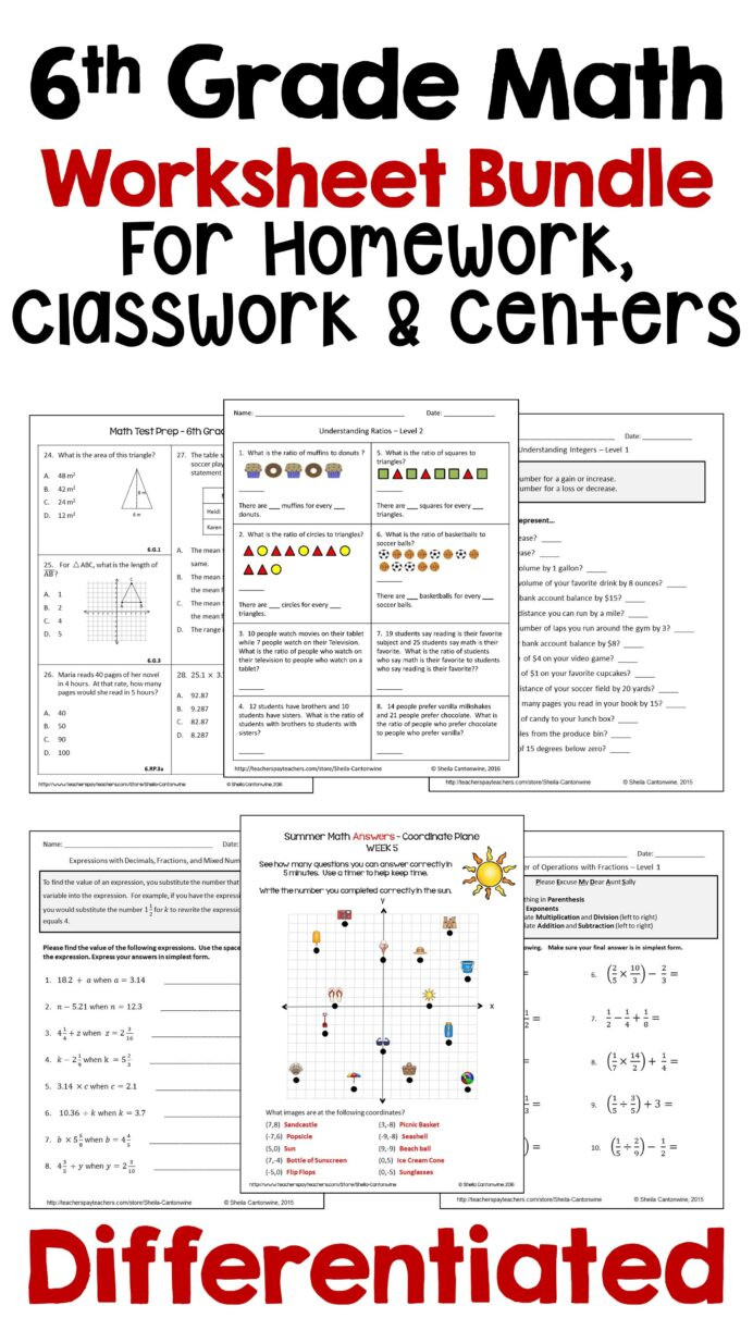 Free Printable Keyboarding Worksheets Pin Differentiated Math Mon Core Worksheets Middle