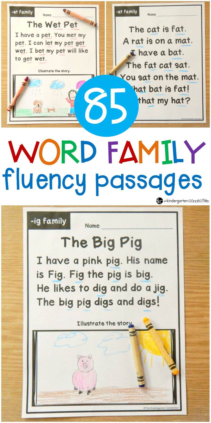 Free Printable Kindergarten Fluency Passages 5 Reading Prehension Worksheets Kindergarten Worksheets