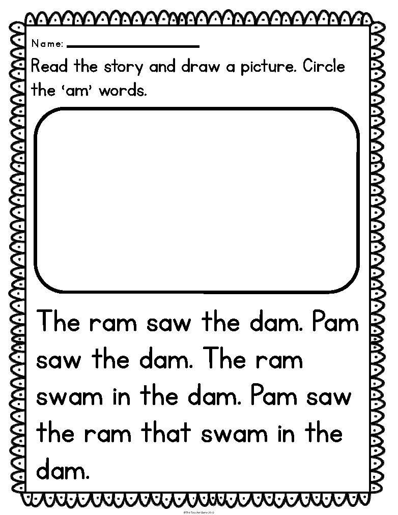 Free Printable Kindergarten Fluency Passages Reading Fluency Passages Cvc Word Family Kindergarten