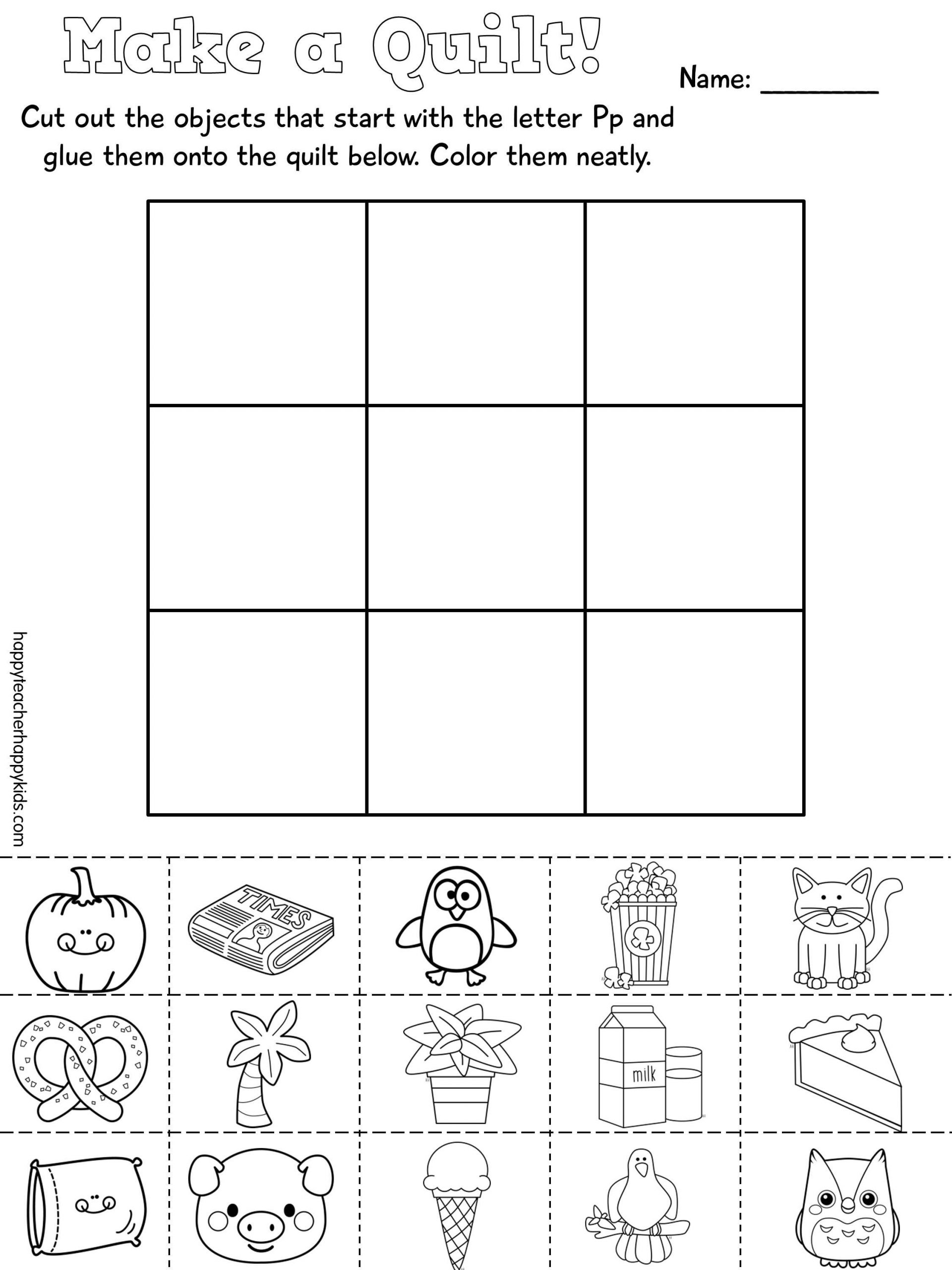 Free Printable Letter P Worksheets Letter P
