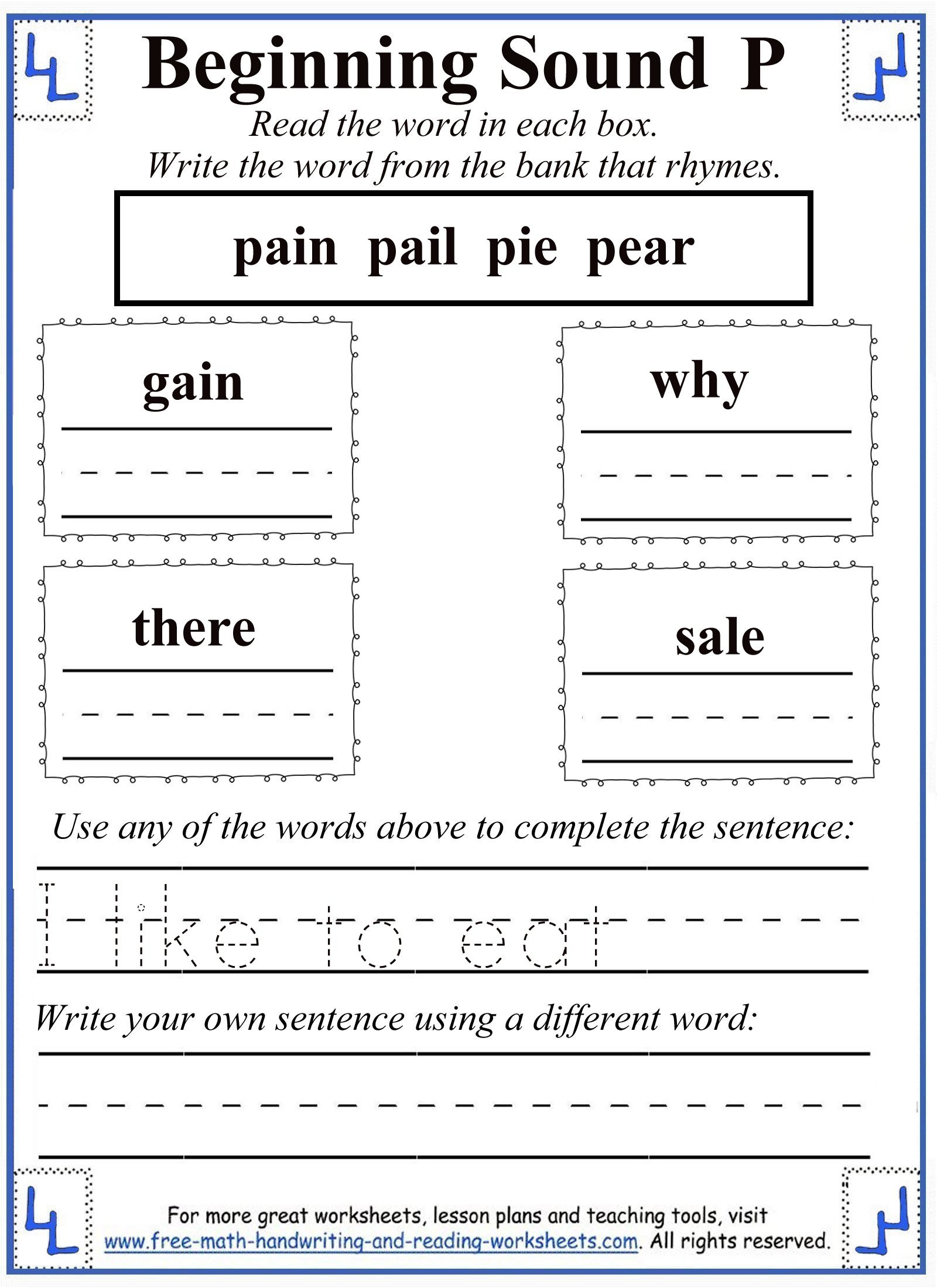 Free Printable Letter P Worksheets Letter P Worksheets
