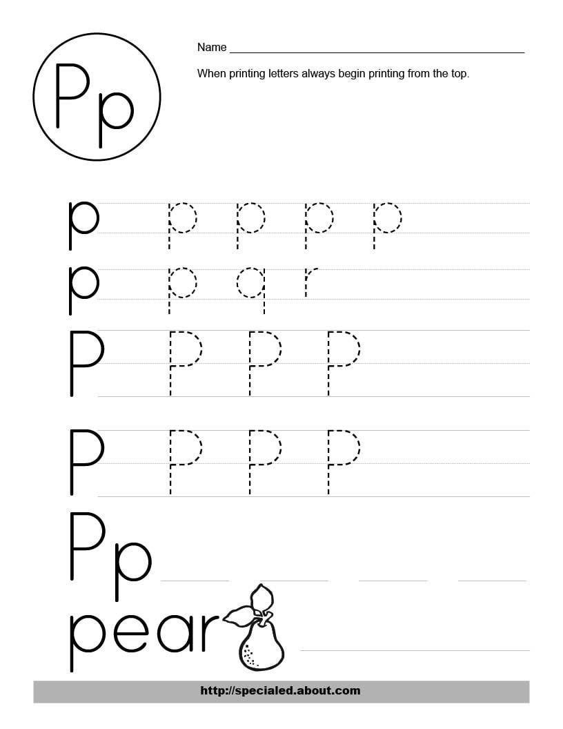 Free Printable Letter P Worksheets Letter P Worksheets to Print Letter P Worksheets Alphabet