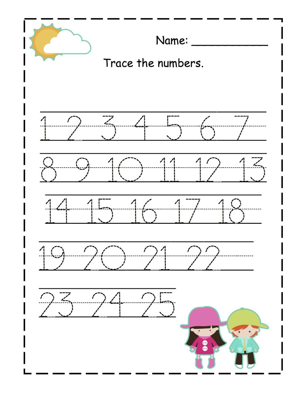 Free Printable Number Tracing Worksheets Preschool Printables Ace the Number From Owensfamily