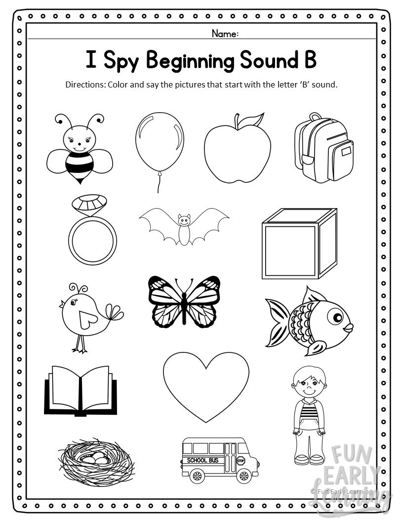 Free Printable R Blends Worksheets I Spy Beginning sounds Activity Free Printable for Speech