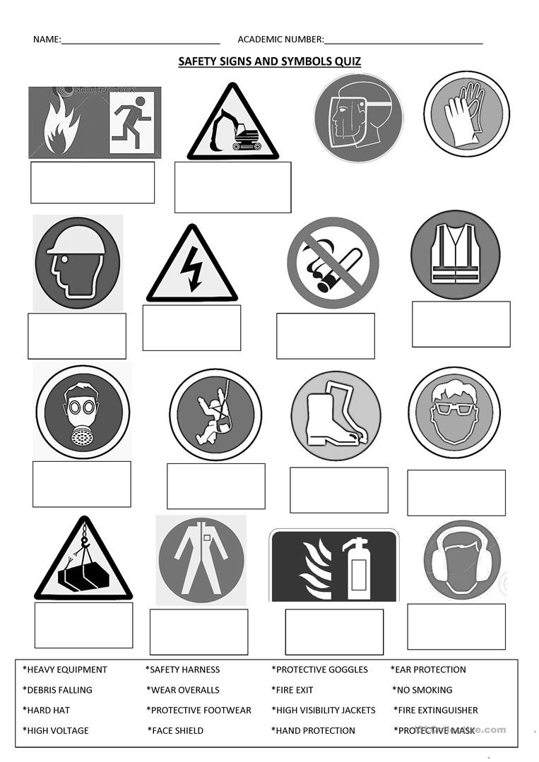 SAFETY SIGNS English ESL Worksheets for distance learning