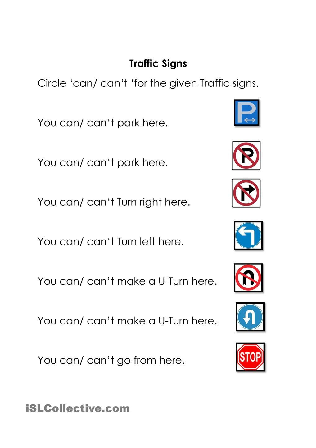 Free Printable Safety Signs Worksheets Traffic Signs