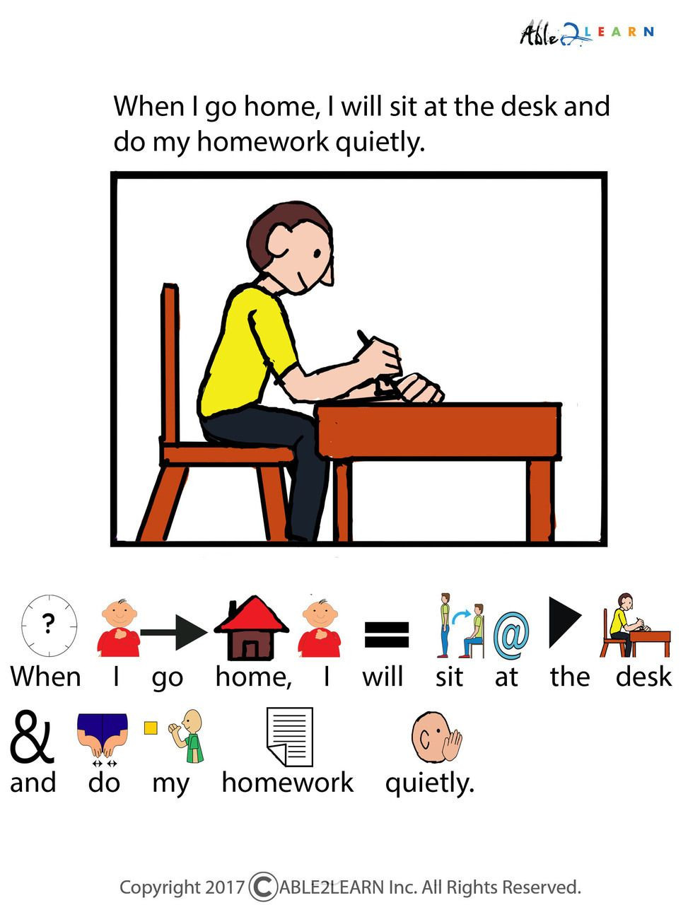 Free Printable social Stories Worksheets I Can Do My Homework social Story Pages 10