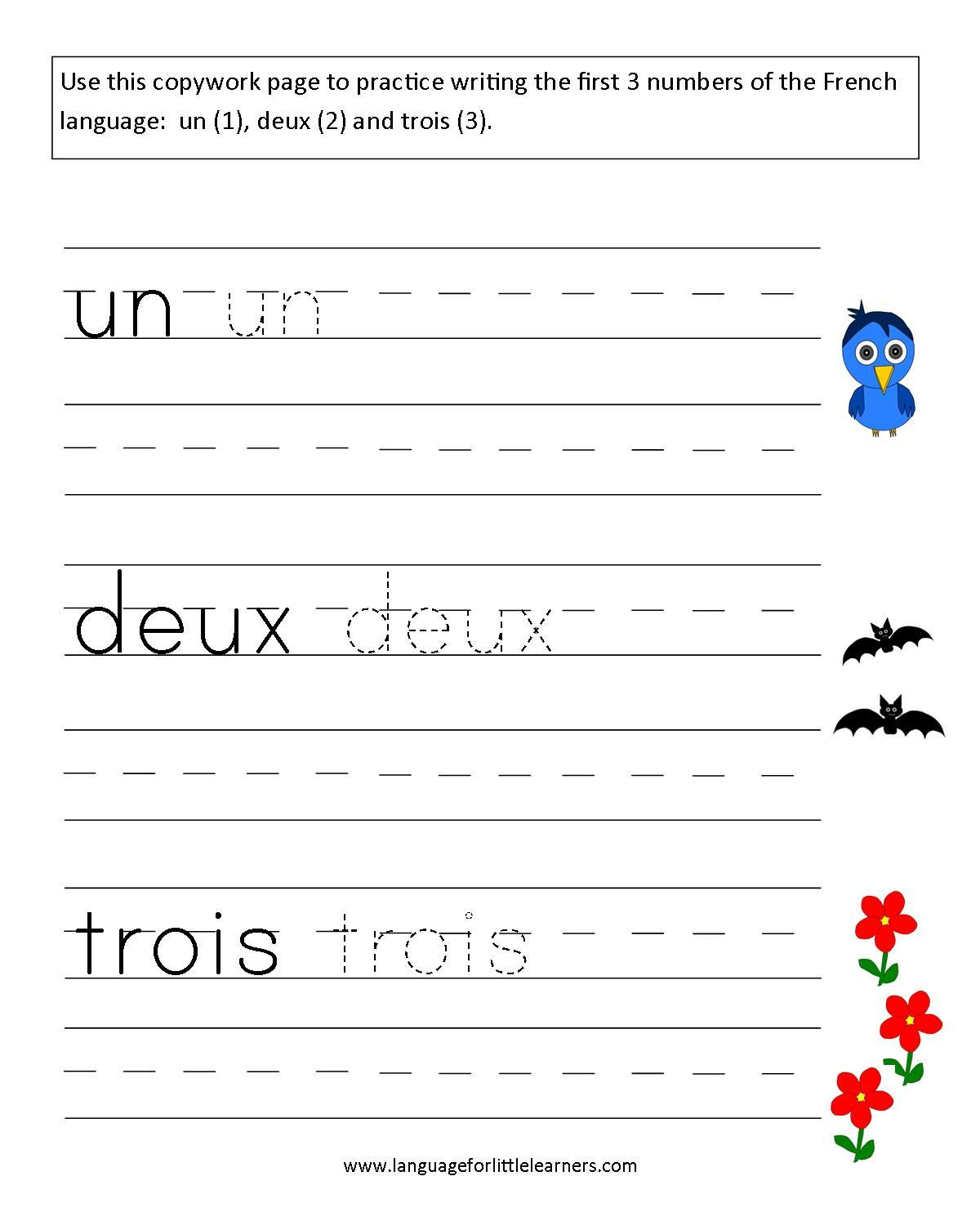 French Printable Worksheets Language for Little Learners November 2011