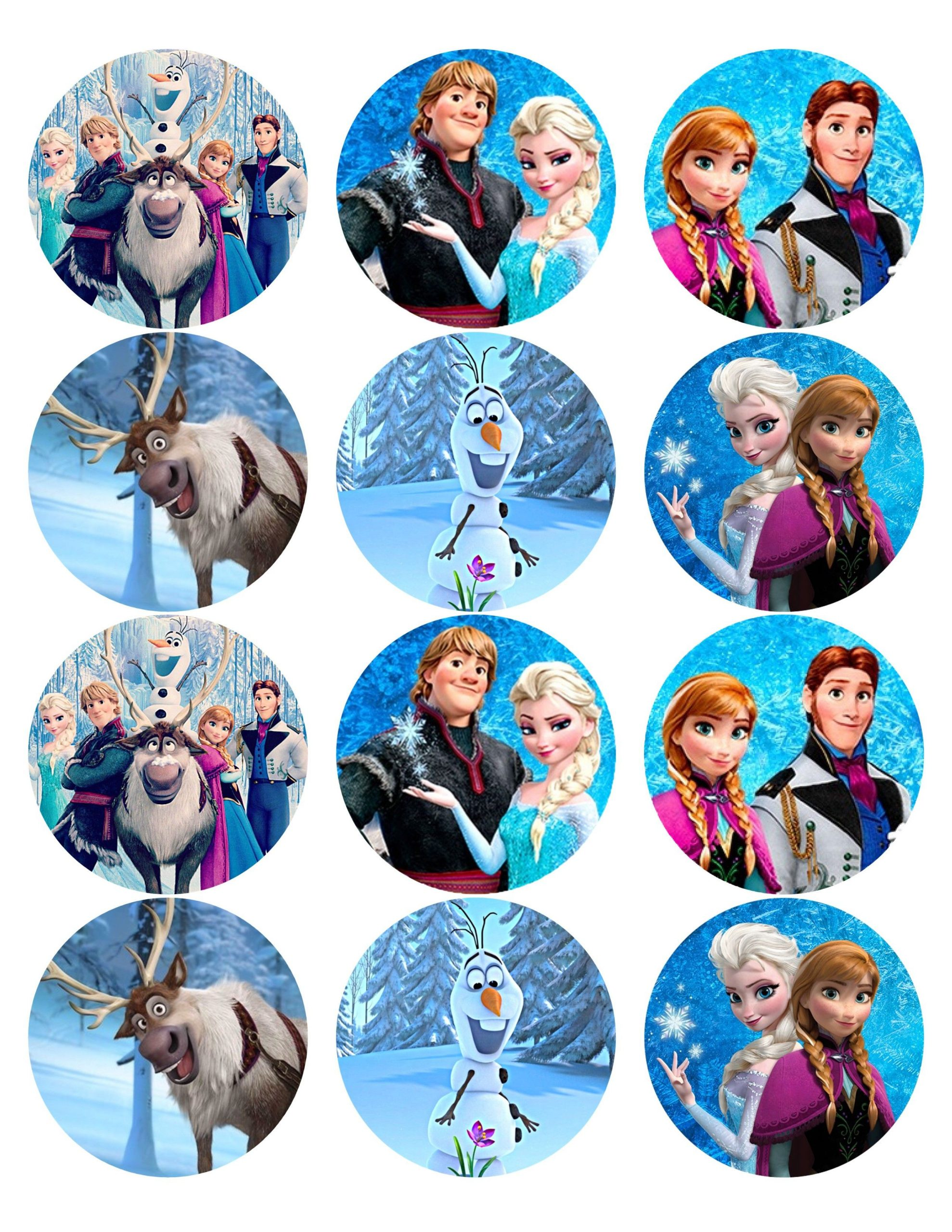 Frozen Cake toppers Printable Frozen Disney Cupcake toppers