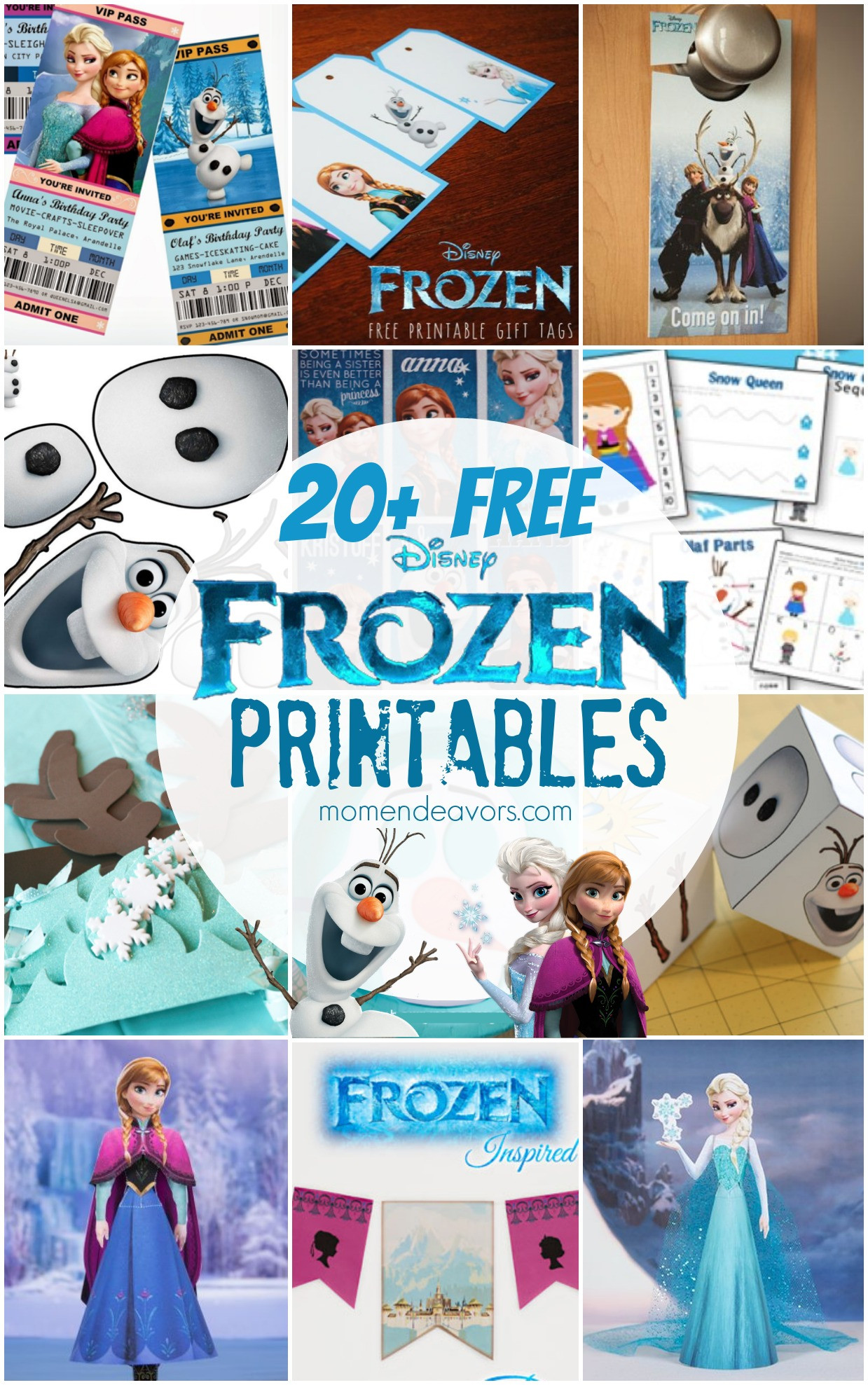 Frozen Free Printable Food Labels 20 Free Disney Frozen Printables Activity Sheets & Party