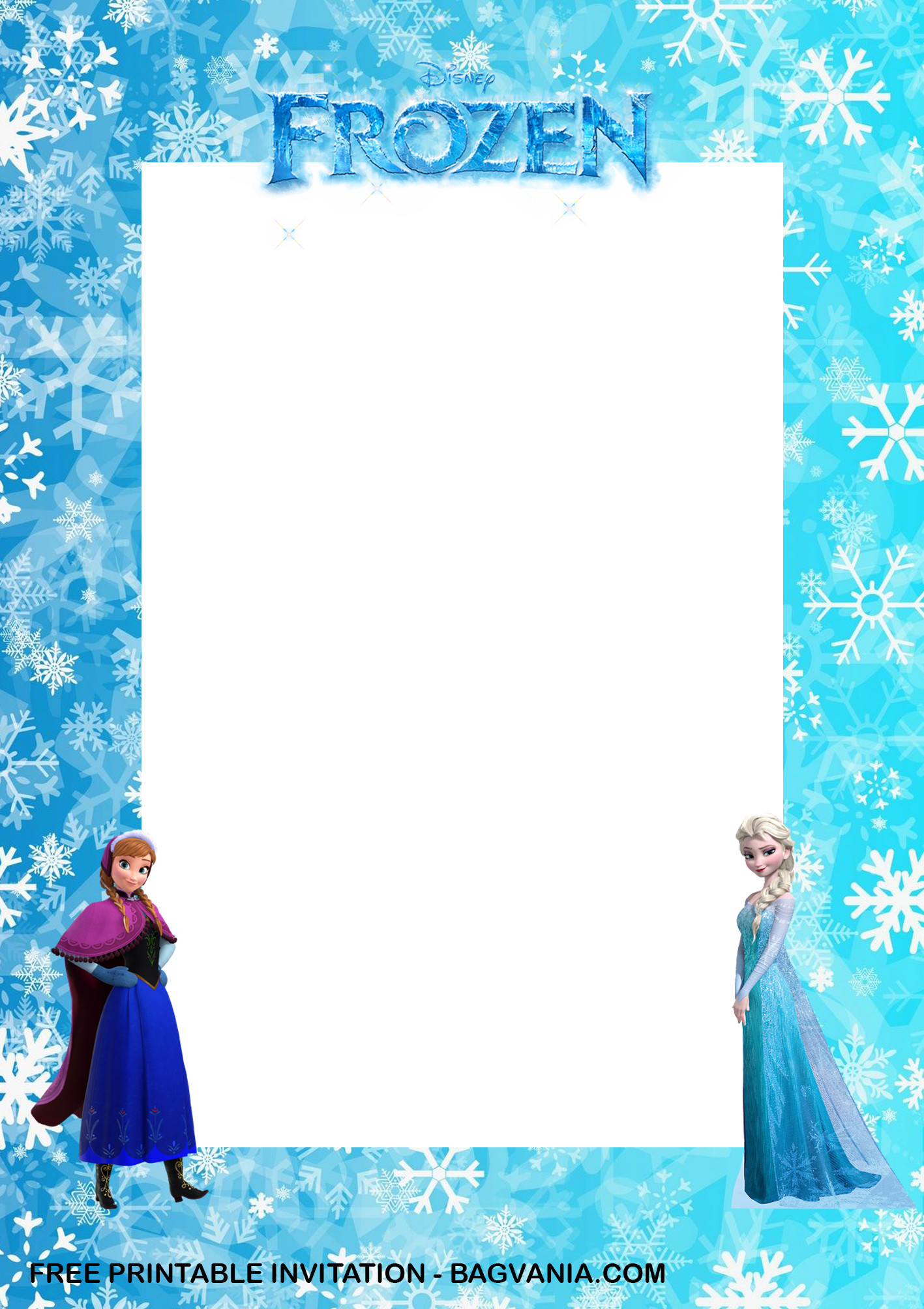 Frozen Invitations Printable Free Free Printable – Anna and Elsa Frozen Birthday Invitation