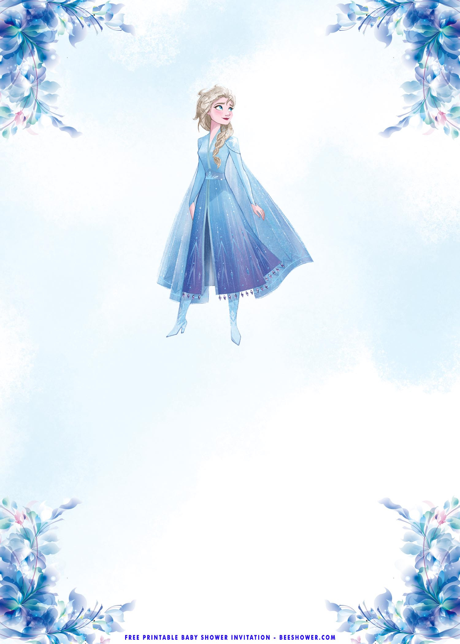 Frozen Invitations Printable Free Free Printable – Frozen Elsa Baby Shower Invitation