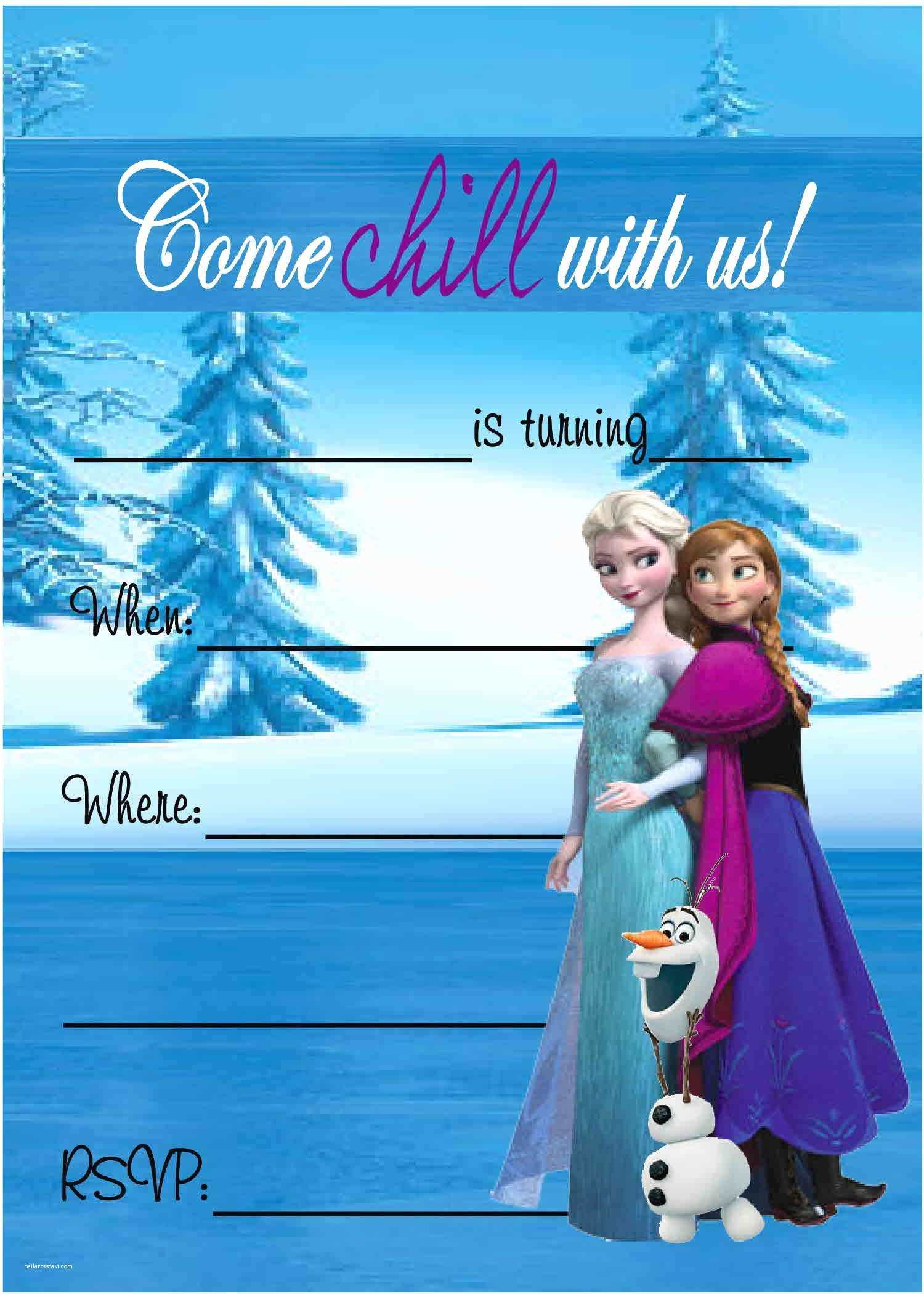Frozen Invitations Printable Free Frozen Birthday Party Invitations Free Frozen Birthday Party