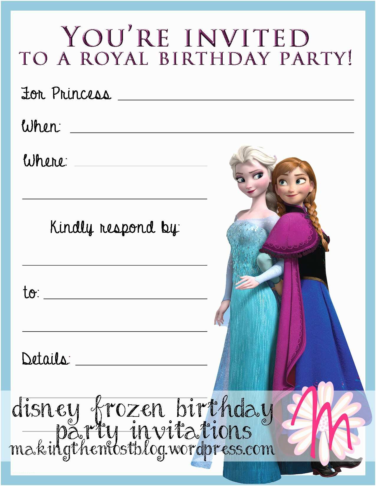 Frozen Invitations Printable Free Frozen Party Invitations Disney Frozen Birthday Party