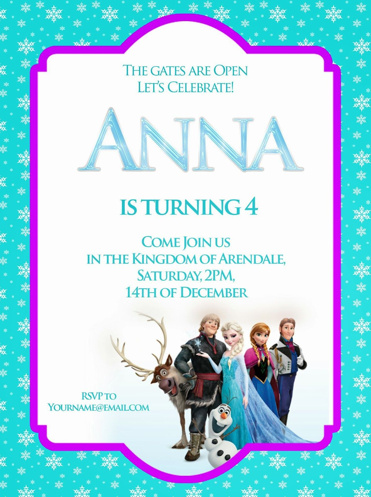 Frozen Invitations Printable Free I Make I Disney Frozen Free Printable Invitation