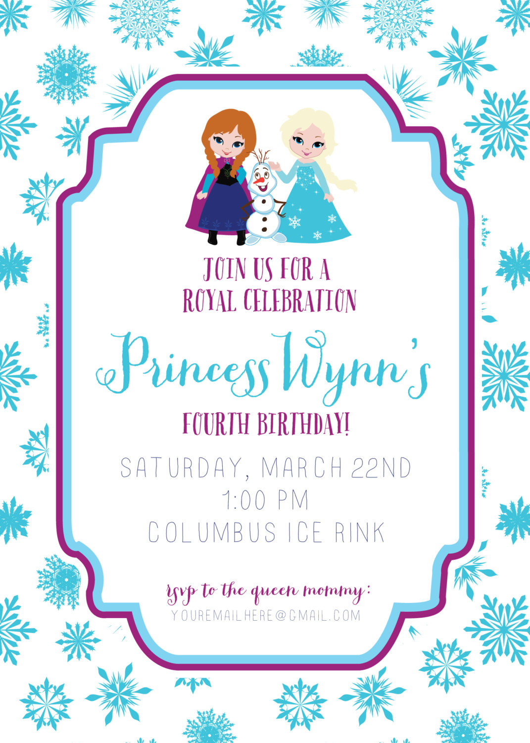 Frozen Invitations Printable Frozen Invitation Frozen Birthday Invitation Disney Frozen