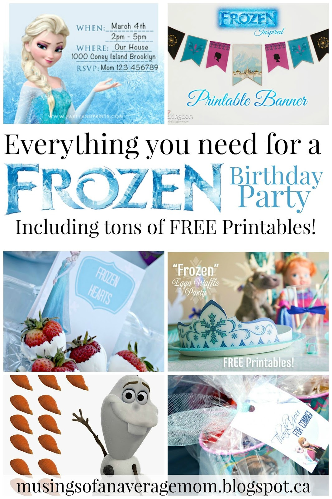 Frozen Invitations Printable Musings Of An Average Mom Free Frozen Party Printables