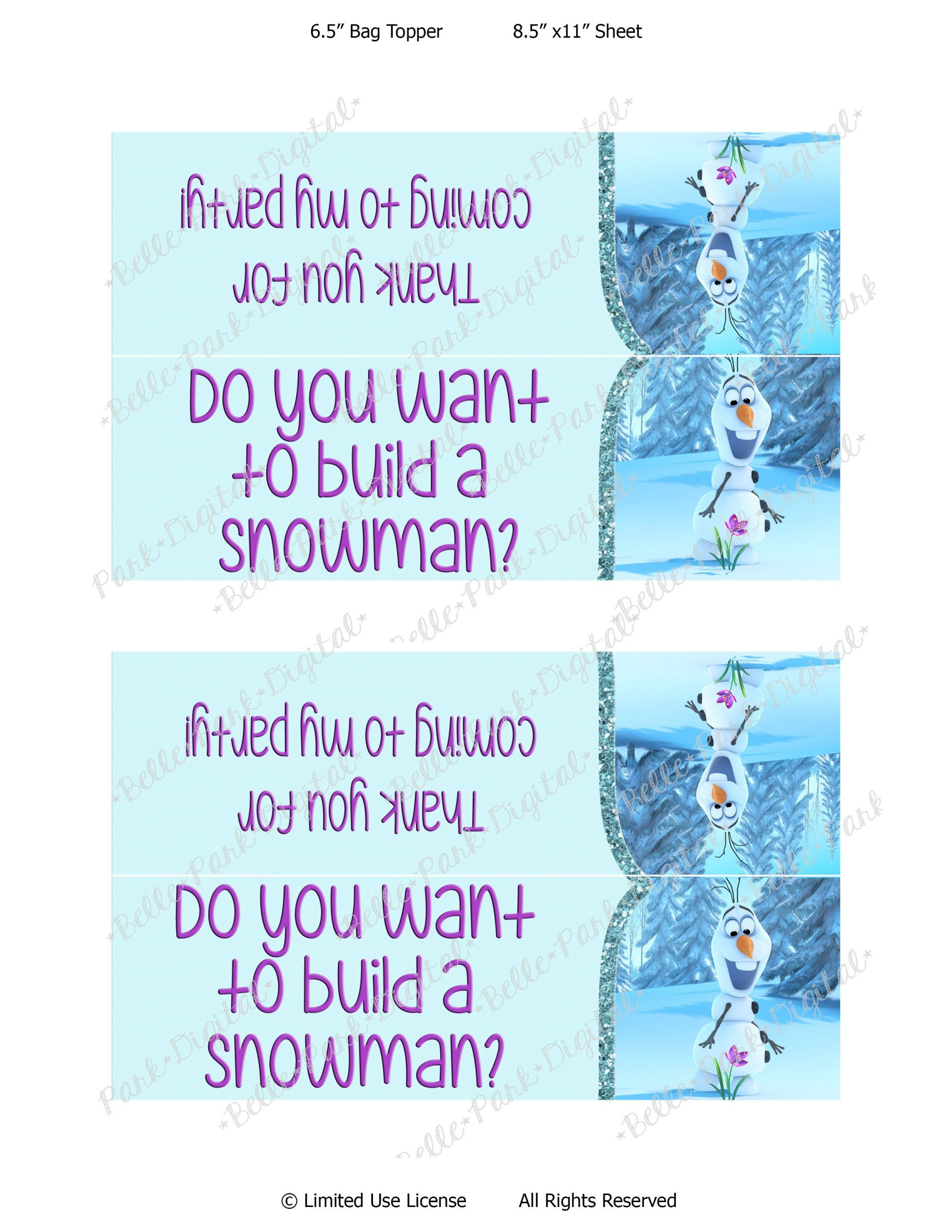 Frozen Invitations Printable Olaf Template Printable