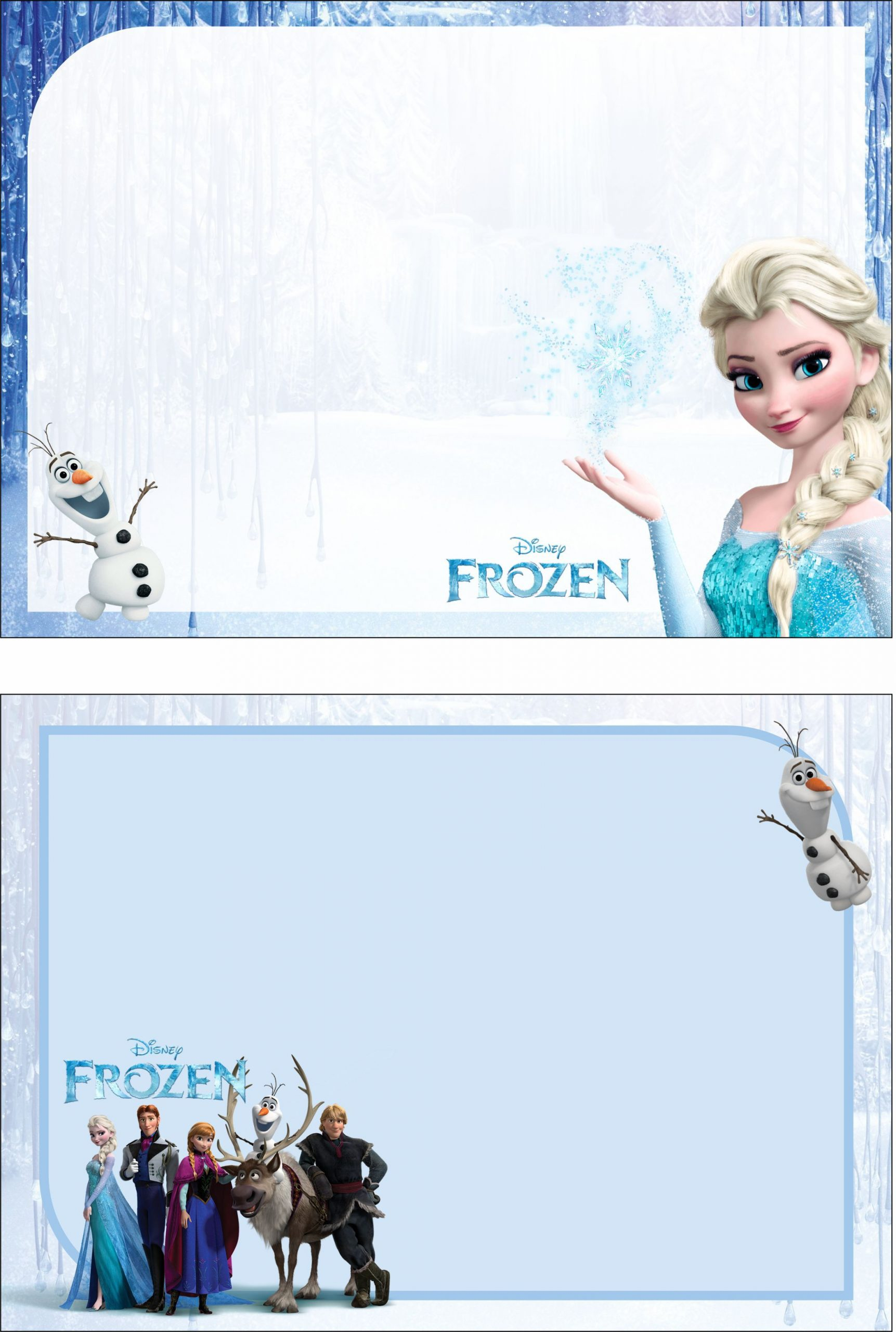 Frozen Invite Printable Free Frozen 2 Birthday Party Kit Templates In 2020