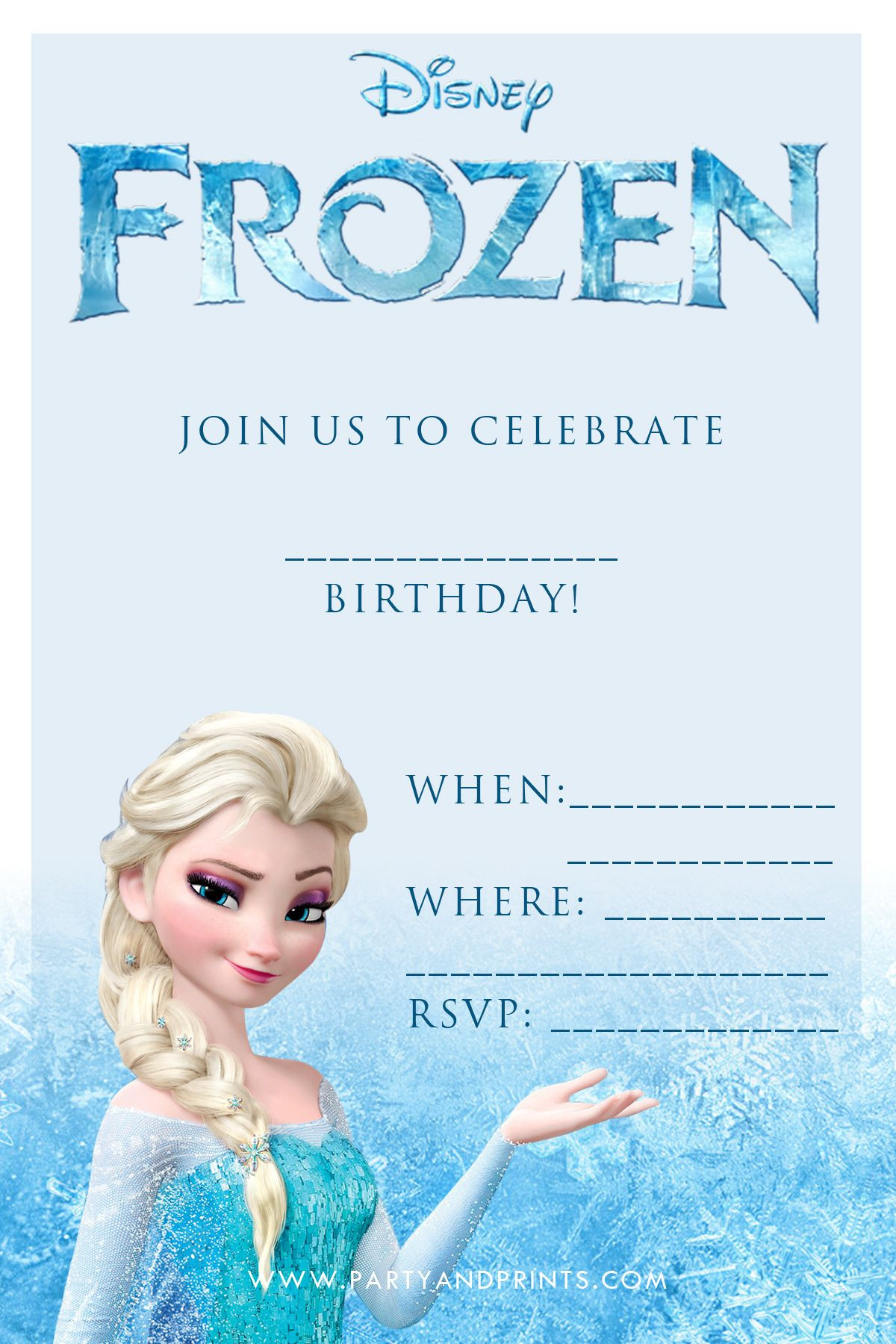 Frozen Invite Printable Free Frozen Invitation