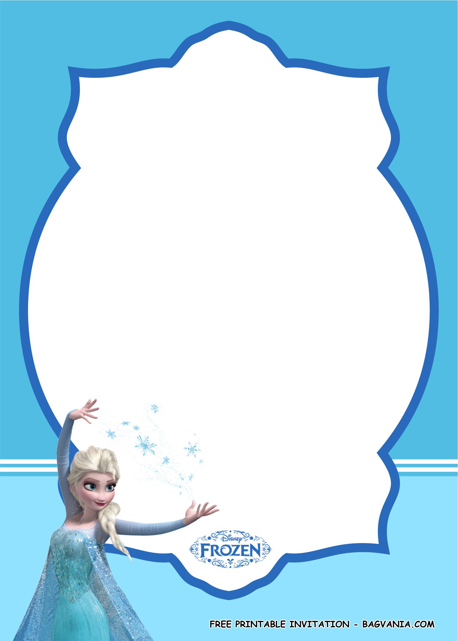 Frozen Invite Printable Frozen Invitation Template