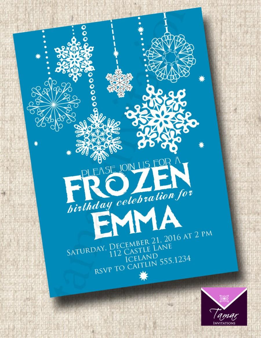 Frozen Printable Invitation Einladung Printable Frozen Birthday Invitation
