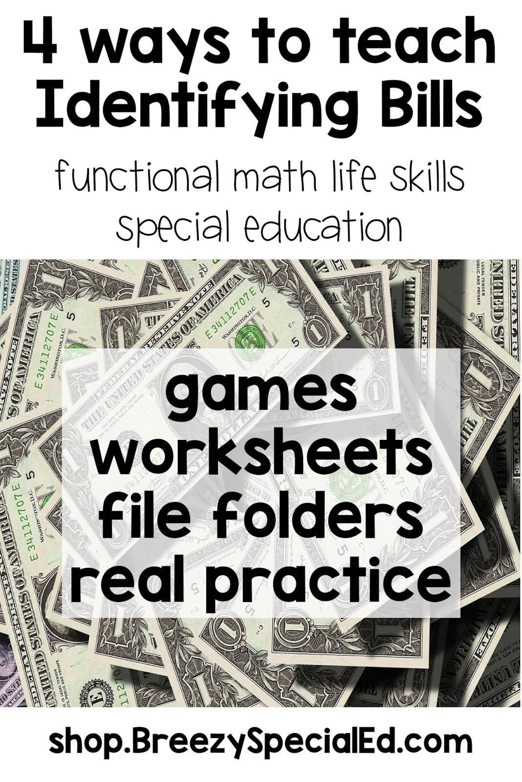Functional Math Worksheets Special Education Making Money Iep Goals More Functional Breezy Special Ed