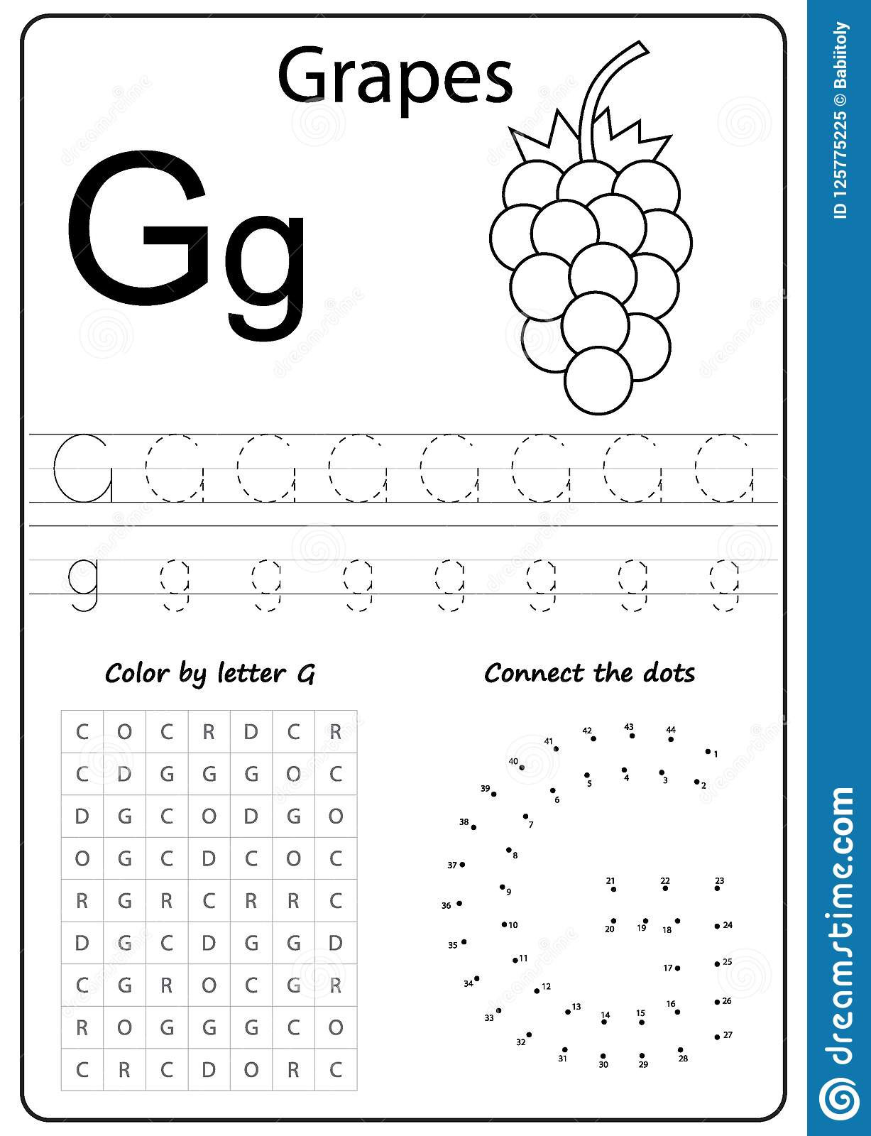 G Worksheets for Preschool Coloring Pages Free Printable Activity Sheets for Kids