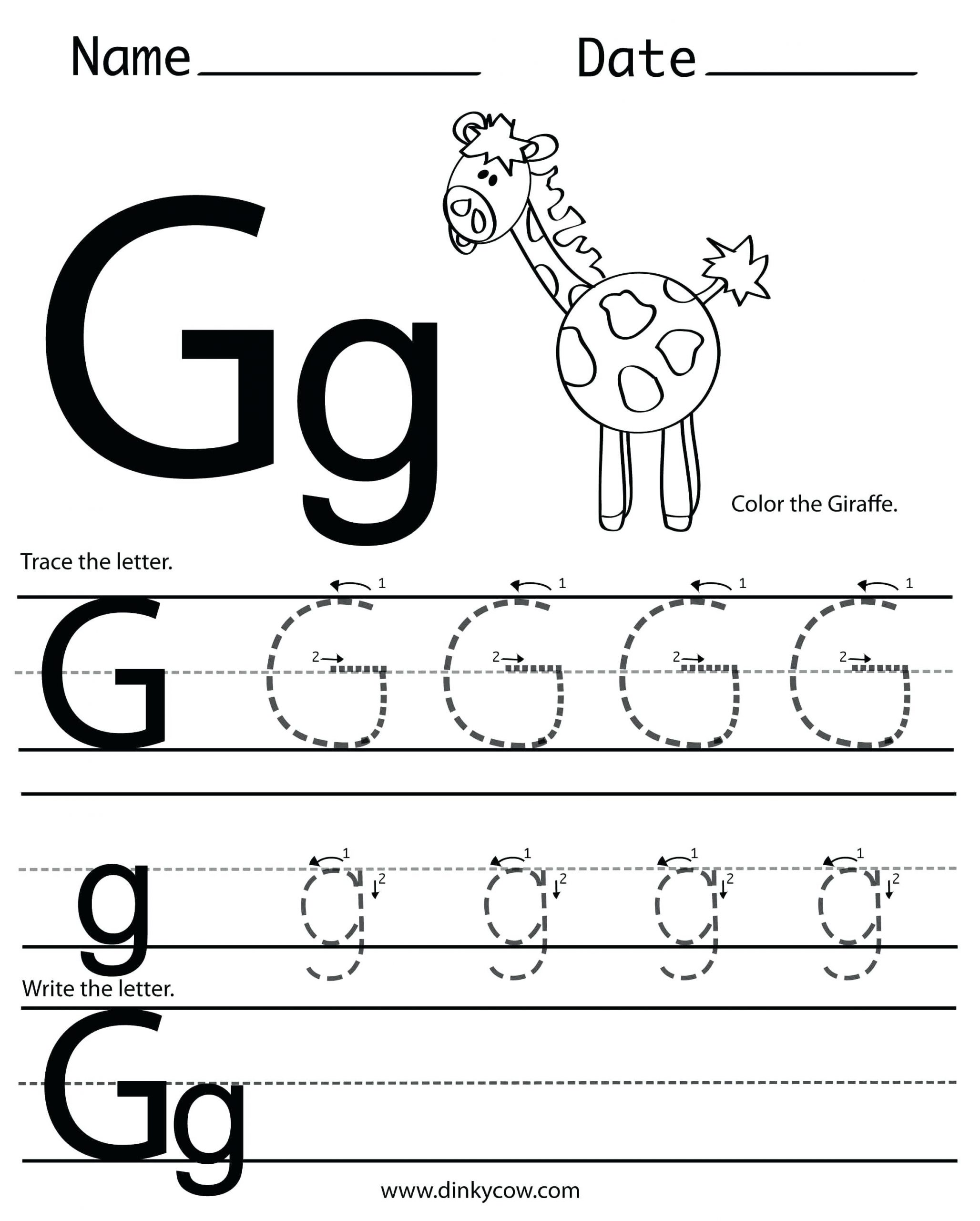 G Worksheets for Preschool Letter G Preschool Preschool Letter the Week G Craft