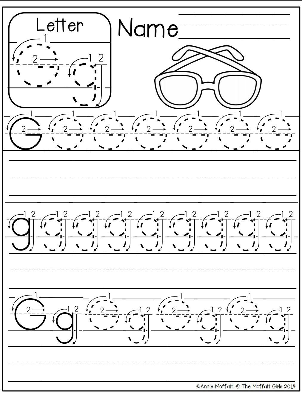 G Worksheets for Preschool Letter G Worksheet