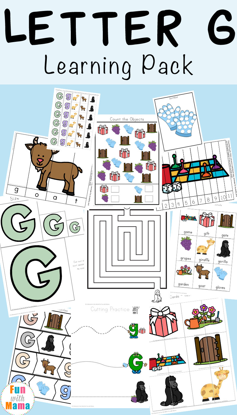 G Worksheets for Preschool Letter G Worksheets Fun with Mama