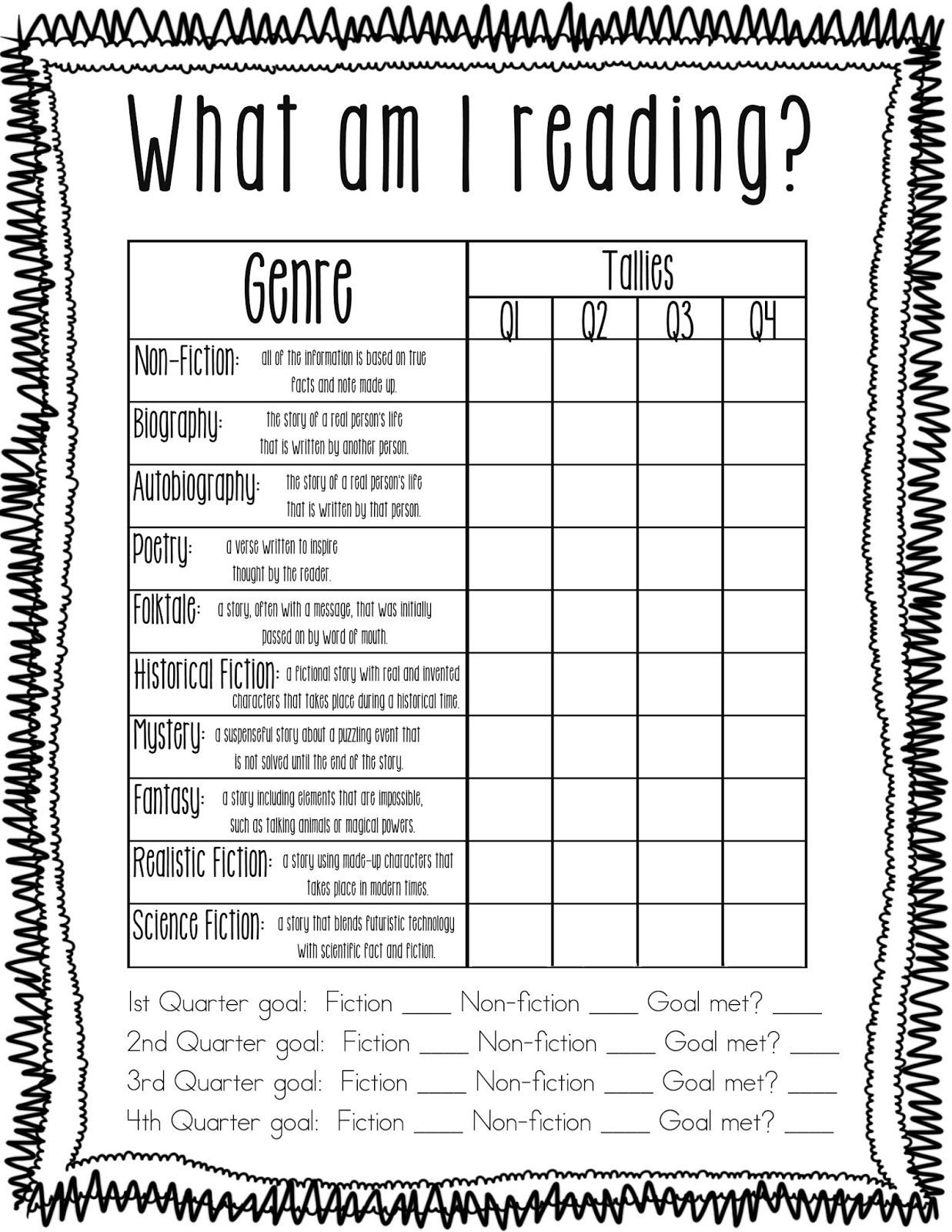 Genre Worksheets 4th Grade Identifying Genres Literature Worksheet