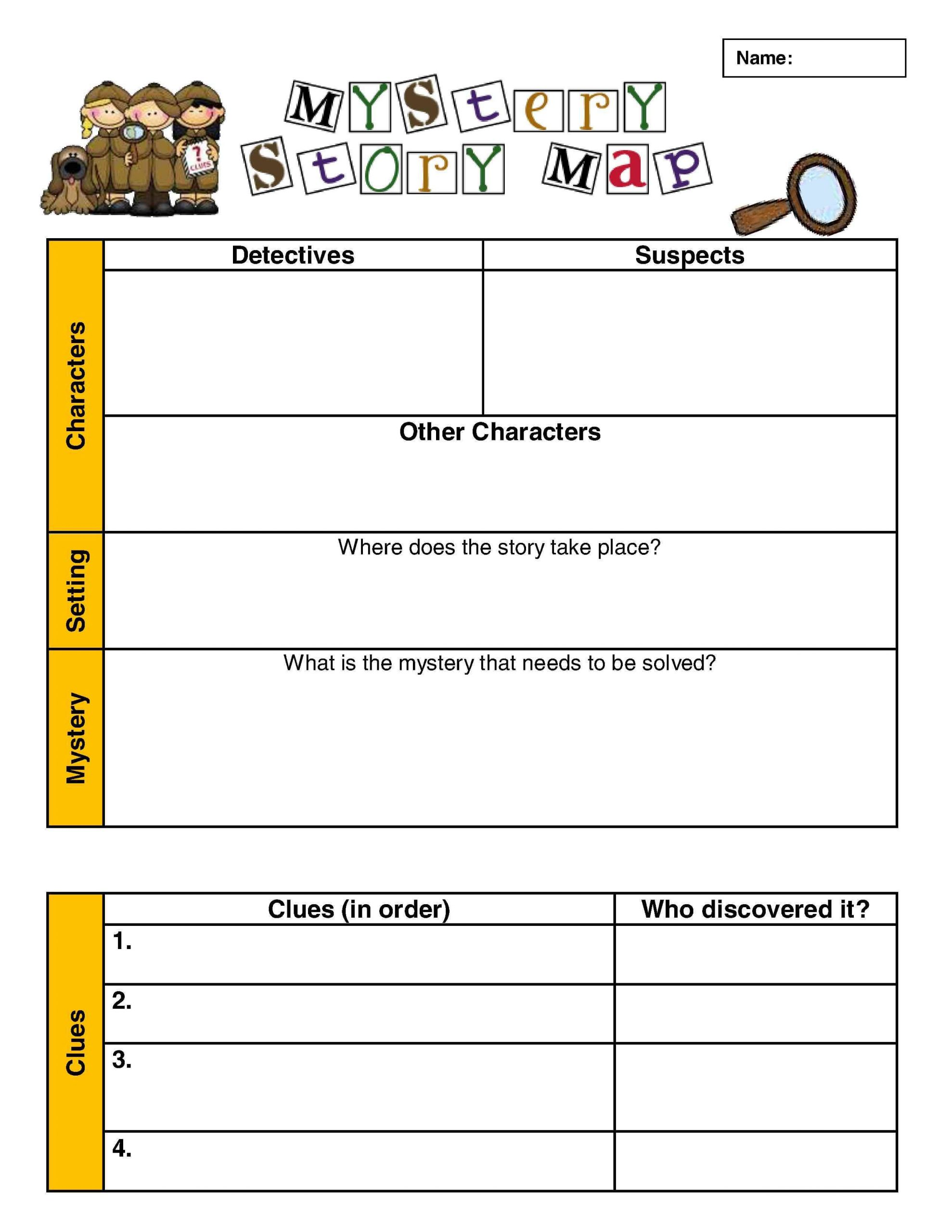 Genre Worksheets 4th Grade Mystery Reading Prehension
