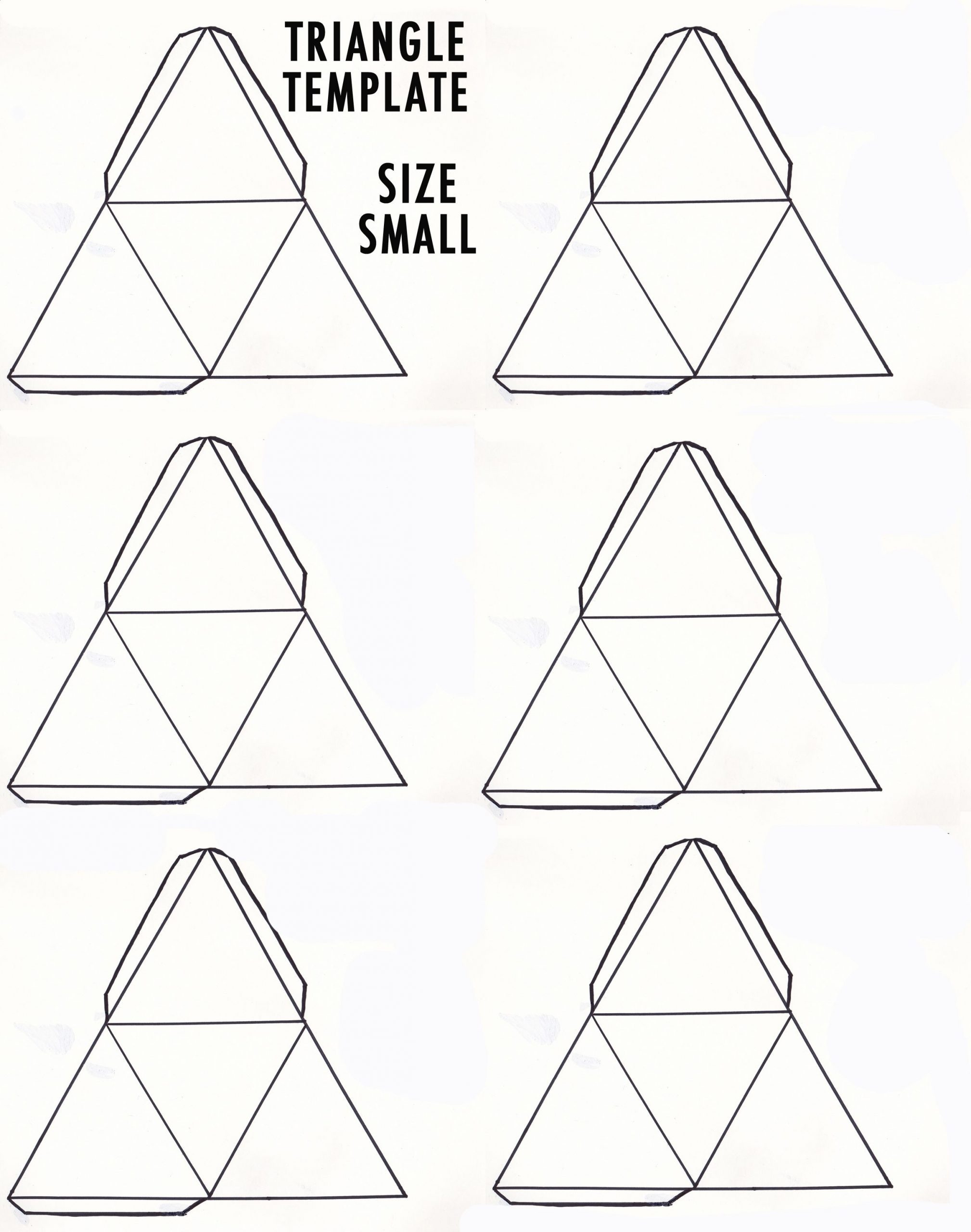 Geometry Template Printable Diy 3d Geometric Sculpture