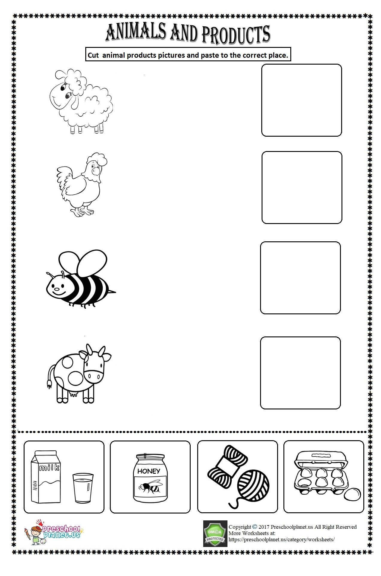 Hibernation Worksheets for Preschool Worksheet Animals for Preschool Clover Hatunisi