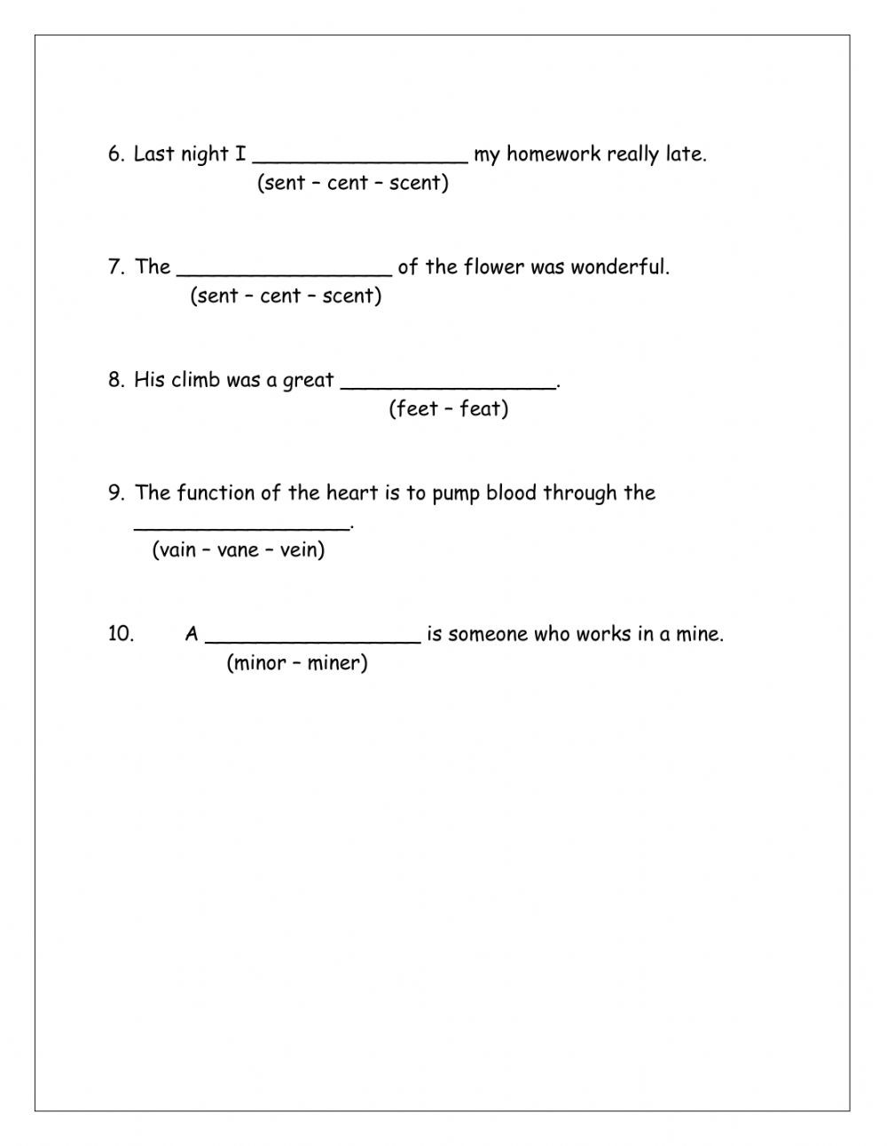 Homophones Worksheets 4th Grade Homophones Interactive Worksheet