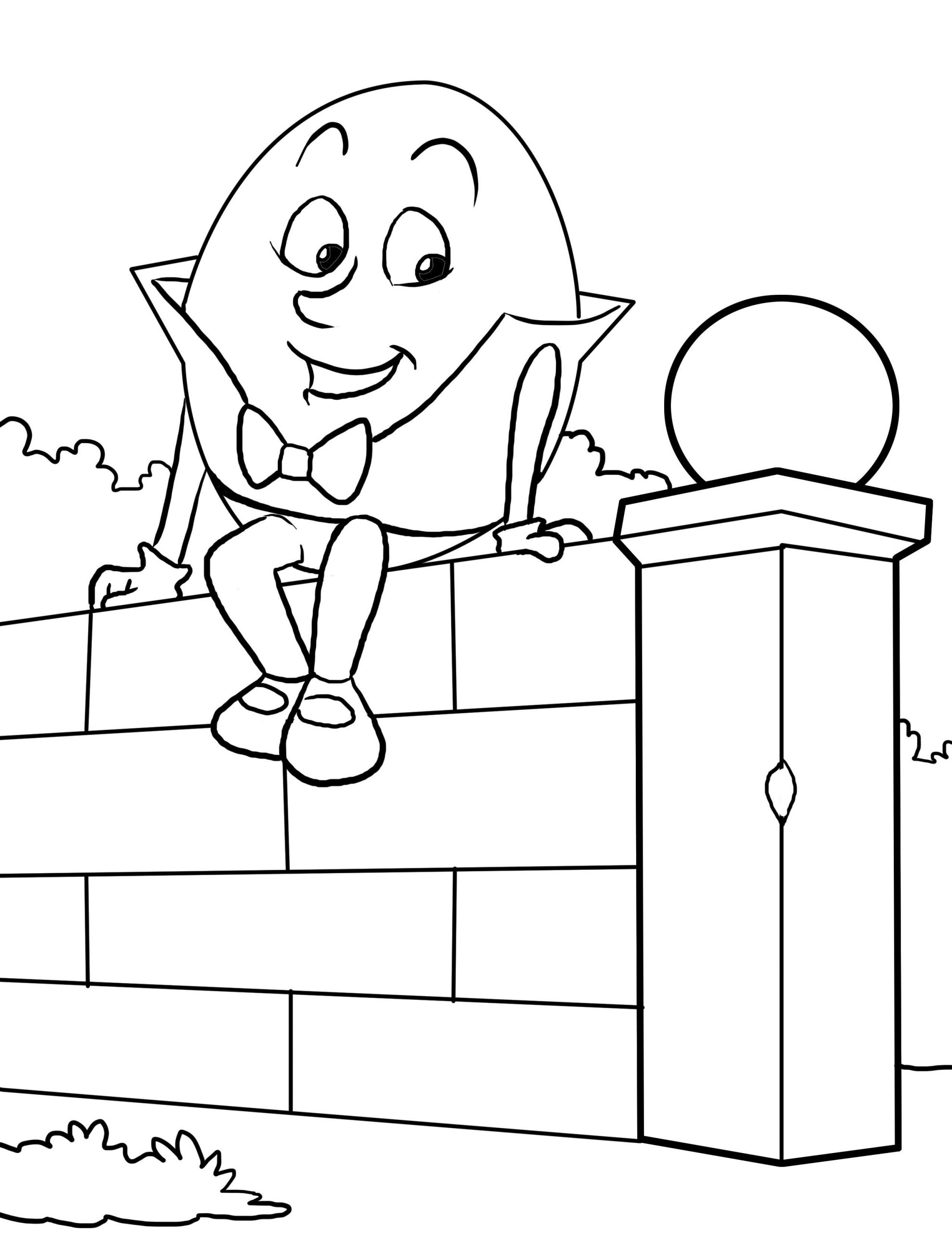 Humpty Dumpty Printable Book Humpty Dumpty Coloring Worksheet for Nursery Printable